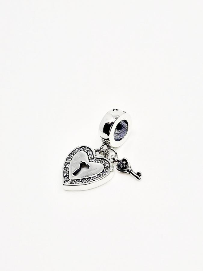 Beads do bransoletki wiszące serce