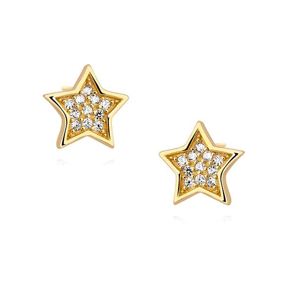 Kolczyki gwiazdki na sztyfty